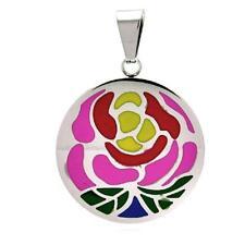 Acero Inoxidable Colgante Disco con / Multicolor Diseño Flor ,