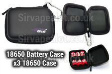 Battery Case Hard protective zip for 3x 18650 case key ring 26650 X2 carry case