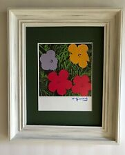 ANDY WARHOL ORIGINAL 1984 SIGNED FLOWERS PRINT MATTED TO BE FRAMED AT 11 X 14