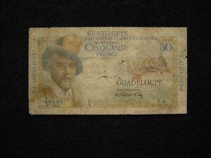 Guadeloupe P-34  1947  50 Francs Good