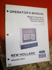 1988 NEW HOLLAND WEIGH COMMAND ELECTRONIC SCALE FACTORY OPERATORS MANUAL