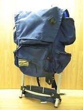 Vintage REI Co-Op Backpack, Metal External Frame, Blue