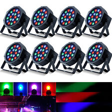 U`king 8PCS RGB 54W Stage 18 LED Lighting DMX512 Par Color Mixing Party Wedding