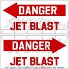 DANGER JET BLAST USAF Helicopter 75mm Stickers Decals x2