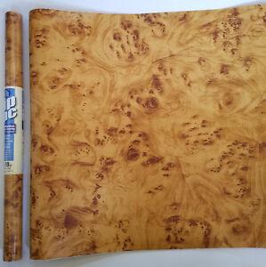"9ft x 18"" Swirl Wood Grain Self Adhesive Shelf liner contact paper"
