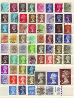 Großbritanien England verschiedene Freimarken, gestempelt kl. Sammlung Lot