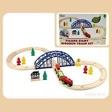 * Premier apprentissage * 35 pièces en bois Train Set * Thomas ELC Brio Compatible * NOUVEAU