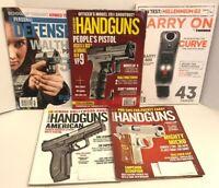 Guns & Ammo Magazine lot - 5 issues - Combat Defense American Handguns