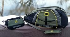 Wilson Gear Tennis Bag Holds 5+ Tennis Racquets Green,Gray,Black