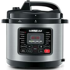 New listing GoWise Usa Electric Pressure 12.5 Qt. Stainless Steel Ceramic Pot 12-Presets