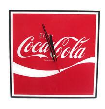 "Coca-Cola Square 12"" Clock Enjoy Coca-Cola Script Logo - BRAND NEW"