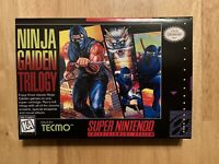 NINJA GAIDEN TRILOGY Custom Game Box + Box Protector Only For Super SNES
