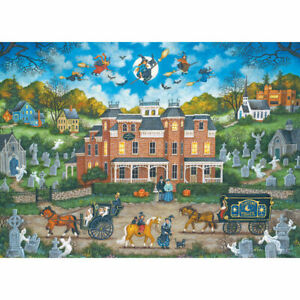 HALLOWEEN FRIGHT NIGHT by Bonnie White - MasterPieces 1000 piece puzzle  - NEW