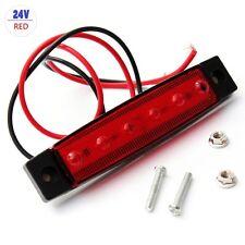 1PC 24V Trailer 6 LED Indicators Light Truck Boat  BUS Side Marker RV Lamp Red