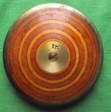 "Superb Vintage Hardwood Laminated / Steel Discus 7"" 1 Kilo : INTERIOR DESIGN B"