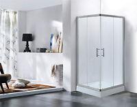 Dusche Duschtempel Duschkabine Duschabtrennung Glasdusche LXW-6126 90x90 cm NEU