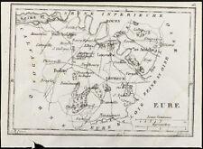 1830ca - Eure - Carte ancienne du département. France. Gravure Tardieu