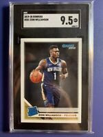 2019-20 Donruss Optic Basketball ZION WILLIAMSON RC Rated Rookie #201 SGC 9.5 MT