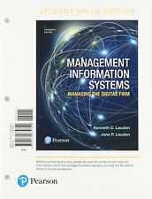 Management Information Systems: Managing the Digital Firm, Student Value...