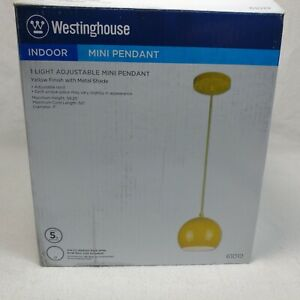 Westinghouse Lighting 6101900 One-Light Indoor Mini, Yellow Finish with Metal Sh