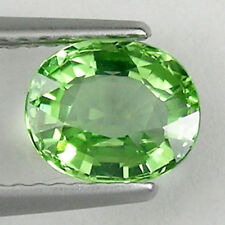 1.31 cts  SHIMMERING  BEST GRADE GREEN NATURAL CHROME TOURMALINE OVAL # 2852