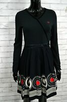 Vestito Tubino Nero Donna TOMMY HILFIGER Taglia XS Abito Dress Woman Slim Black