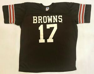Vintage Rawlings NFL Cleveland Browns #17 T-Shirt Jersey Brown XL Tee USA