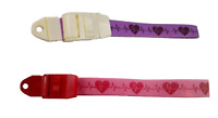 Heart / ECG Tourniquet Twin Pack- Quick/Slow Release - Lilac/Purple & Pink/Red