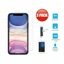 3-Pack Tempered Glass Screen Protector for iPhone 11 Pro X XS Max XR 8 Plus 6 7