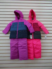 Toddler Girls OshKosh B'gosh Purple or Pink 2pc Snowsuit Size 2T - 4T