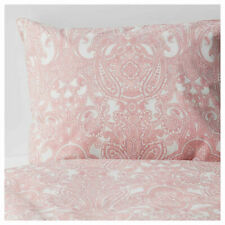 Ikea JATTEVALLMO Full/Queen Duvet Cover with 2 Pillowcases Bed Set Paisley Pink
