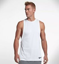 Nike DRY Muscle Tank Training Top White AA4652 Medium