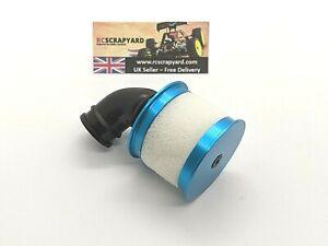 RC Nitro engine 1/10th Blue metal aluminium Extra Fine Foam air filter,