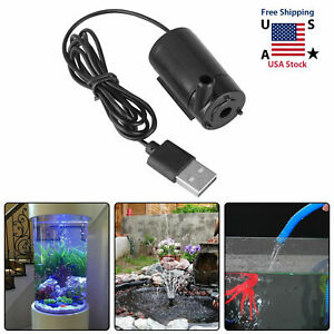 Small Water Pump Mini Mute Submersible USB 5V 1M Cable Garden Home Tool US Ship