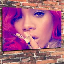 """Rihanna cheveux rouge Loud Wall Art Imprimé Photo sur toile A1.30""""x20"""" 30 mm Profond Cadre"""