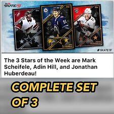 18-19 THREE STARS #9 SCHEIFELE/HILL/HUBERDEAU SET OF 3 Topps NHL Skate Digital