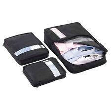 3 X Custodia in Ordine Set Vestiti Organizer da viaggio valigia Storage Bag Black
