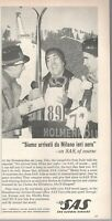 1962 Original Advertising' SAS Scandinavian Airlines Company Aerial Milano