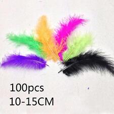 100pcs Coloré Soft Coq Queue Plumes fête Supplies 10-15 cm/4-6 inch décor