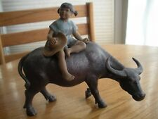 Vintage Pottery Water Buffalo Chinese Stoneware, glazed, Vietnamese Child