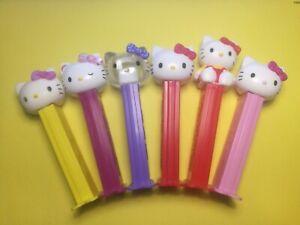 Hello Kitty PEZ Dispenser Set with 6 Figures