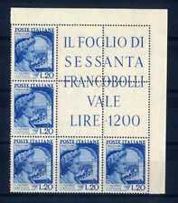 ITALIA REP. 1949 Bimillenario della morte di Gaio Valerio Catullo 20L Blocco MNH