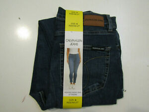 CALVIN KLEIN JEANS Womens Ocean Blue Skinny Jeans High Rise Size 10 NWT