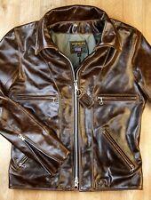 Vanson Model F, size 40, Dark Maple Bainbridge Leather Jacket