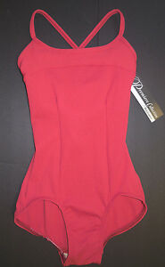 NWT Body Wrappers Premiere P821 Ruby Ladies Cut Out Back Camisole Leotard