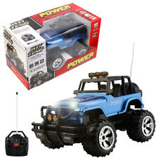 1/16 Electric RC Car Remote Control Jeep Off-Road Truck W/ Lights Kids Toy Gift