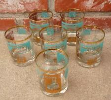 7 VINTAGE SOUTHERN COMFORT PROMO GLASSES STEAMBOAT LOW BALL COCKTAIL BARWARE
