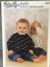 """Peter Pan Knitting Pattern: Baby Sweaters, DK, 12-22"""", P690"""