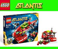 Sottomarino Atlantis 8075 LEGO nuovo Neptuns U-Boot + Lego Magnet GRATIS