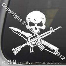AR15 Crossbones Decal m4 m16 .223 5.56 nato Military surplus rifle sticker ar-15